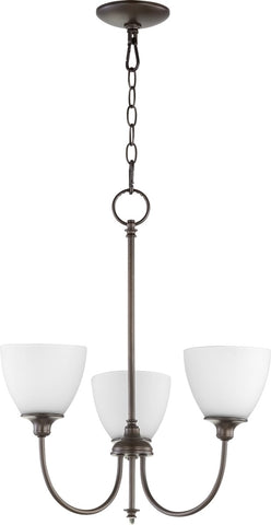 0-002570>Celeste 3-light Chandelier Oiled Bronze