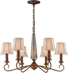 0-025562>26 inchw Crestview 6-Light Chandelier Spanish Bronze