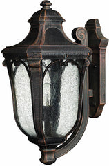 0-018445>OPEN BOX 18 inchh Trafalgar 1-Light Outdoor Wall Lantern Mocha