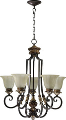 0-001469>26 inchw Capella 5-Light Chandelier Toasted Sienna/Golden Fawn