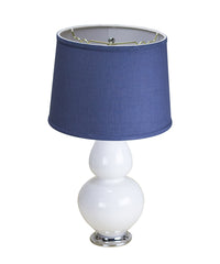 0-000057>Curvaceous Table Lamp with Drum Shade