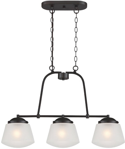 0-014167>Mason 3-Light Pendant Satin Bronze