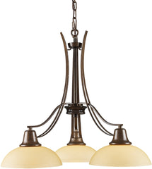 0-033096>21 inchw Franklin Creek 3-Light Chandelier Dark Umber