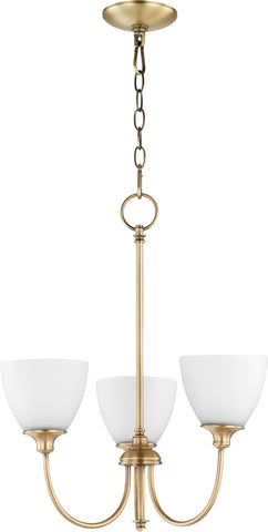 0-002560>Celeste 3-light Chandelier Aged Brass
