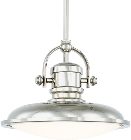 0-018606>Pendants LED Pendant Polished Nickel