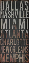 0-015195>32 inchh American Cities Wall Decor III Distressed Black