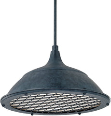 0-018320>Pendants 1-Light Pendant Weathered Zinc