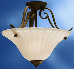 0-017073>17 inchw Willowmore 1-Light Semi Flush Mount Tannery Bronze