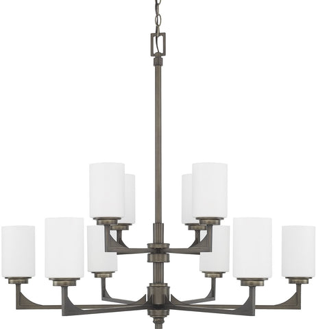 0-025095>Flynn 10-Light Chandelier Gunmetal