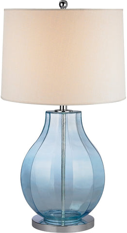0-010905>Open Box 1-Light 3-Way Table Lamp Translucent Light Blue