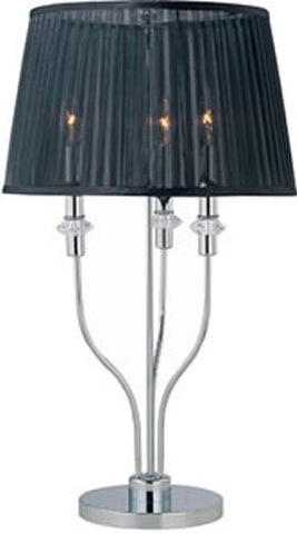 0-004661>OPEN BOX Marrim Table Lamp Chrome/Black