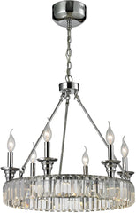 0-026382>20 inchw 6-Light Chandelier Polished Chrome