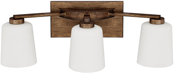 Exceptional 0 004442u003e24 Inchw Reid 3 Light Vanity Rustic