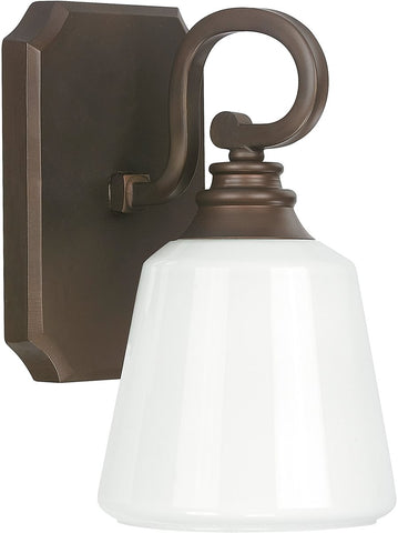 0-000210>Leigh 1-Light Sconce Burnished Bronze