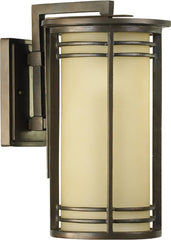 0-014324>17 inchh Larson 1-Light Outdoor Wall Lantern Oiled Bronze