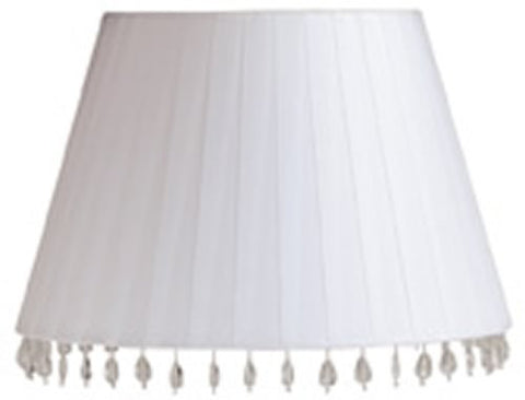 0-000561>8x13x8 Aida White FauxSilk Barrel Shade