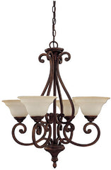 0-030572>25 inchw Chandler 4-Light Chandelier Burnished Bronze