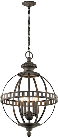 0-026347>Halleron 5-Light Olde Bronze Pendant