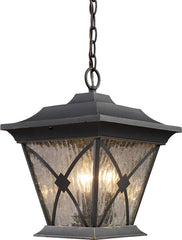 0-067134>Rutland Square 1-Light Outdoor Pendant Hazelnut Bronze