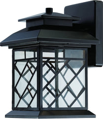 0-021704>10 inchh Woodmere LED Outdoor Wall Lantern Oil Rubbed Bronze