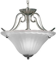 0-018845>17 inchw Willowmore 1-Light Semi Flush Mount Brushed Nickel