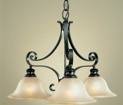 0-026305>OPEN BOX Cervantes Liberty Bronze 3-Light Chandelier
