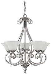 0-030898>27 inchw Chandler 5-Light Chandelier Matte Nickel