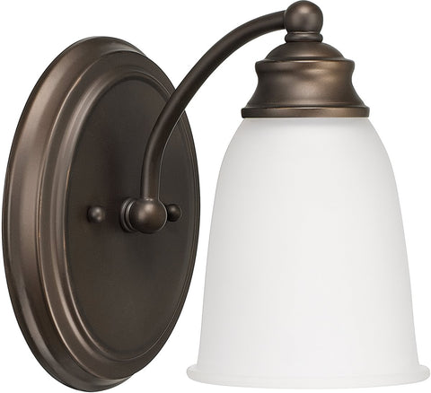0-014360>Capital Vanities 1-Light Sconce Burnished Bronze