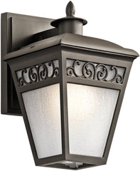 0-015981>10 inchh Park Row 1-Light Outdoor Wall Olde Bronze