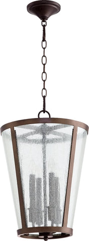 0-028948>4-Light Chandelier Oiled Bronze/Clear/Seeded