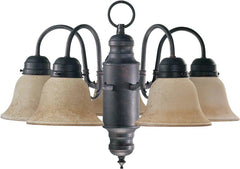 0-031992>20 inchw 5-Light Chandelier Toasted Sienna