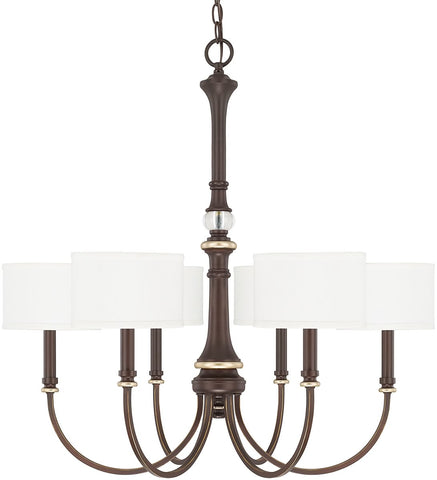 0-024267>Asher 6-Light Chandelier Champagne Bronze