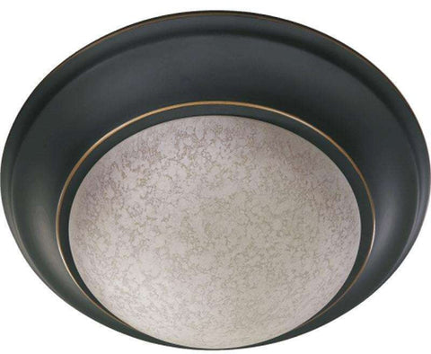 0-002814>1-Light Flush Mount Fixture Old World Etruscan Glass