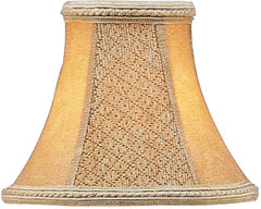 0-013766>3x6x5 Chandelier Bell Lamp Shade Tan Suede