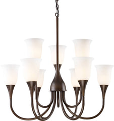 0-151107>Cabaret 9-Light Chandelier Aged Bronze