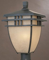 0-012658>18 inchh Dayton Outdoor Post Lantern Aged Bronze Patina