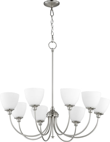0-002970>Celeste 8-light Chandelier Satin Nickel