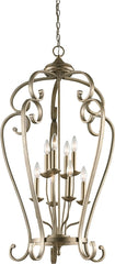 0-026319>Monroe 8-Light Sterling Gold Chandelier