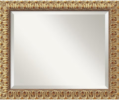 0-007646>20x24 inch Florentine Gold Mirror Medium Framed Mirror