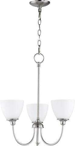 0-002550>Celeste 3-light Chandelier Satin Nickel