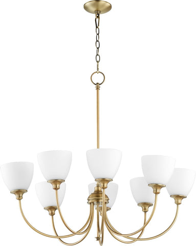 0-002980>Celeste 8-light Chandelier Aged Brass