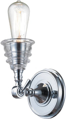 0-025877>Insulator Glass 1-Light Wall Sconce Polished Chrome