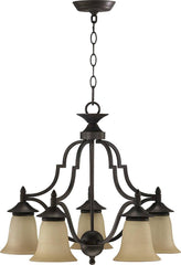 0-017491>22 inchw Coventry 5-Light Chandelier Toasted Sienna