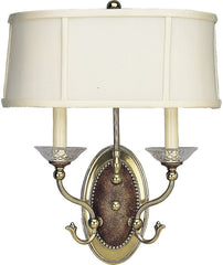 0-009074>OPEN BOX Versailles 2-Light Wall Sconce Burnished Brass