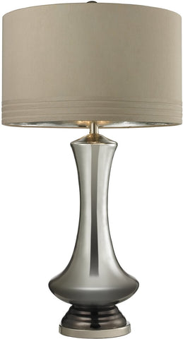 0-024773>OPEN BOX 1-Light 3-Way Table Lamp Silver Mercury Bronze Polished Nickel