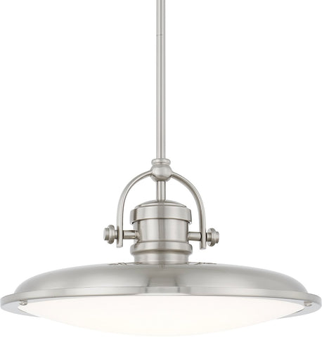 0-019711>Pendants LED Pendant Brushed Nickel