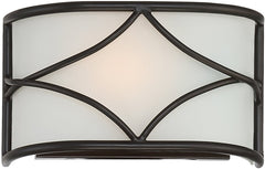 0-016273>Avara 1-Light Wall Sconce Oil Rubbed Bronze