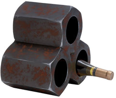 0-024264>Cog Black Metal Wine Holder