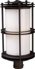 0-022866>21 inchh Burbank 1-Light Outdoor Post Lantern Clay Bronze