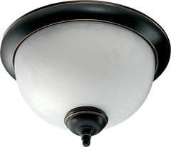 0-009410>OPEN BOX Ashton 2-Light Flush Mount Fixture Old World